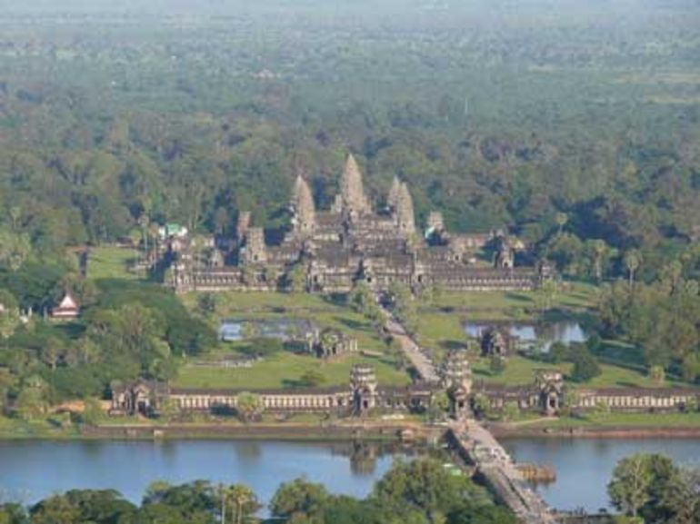 angkor wat from balloon - Angkor Wat