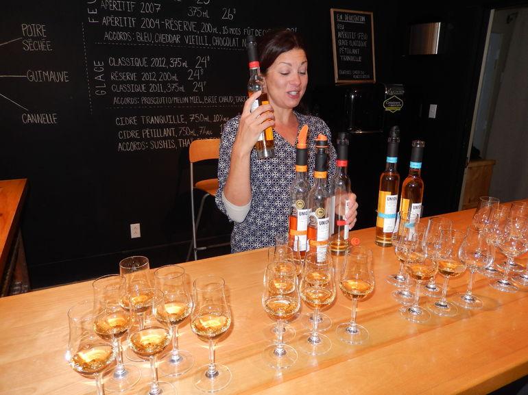 Anoushaka providing Cider Tasting - Montreal
