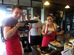 She cooks, he films, Asha & Brock - July 2013