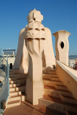 Roof top - La Pedrera, Stuart R - August 2008