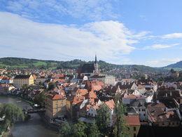 Quelle belle vue de Cesky Krumlov nous avions du haut du château! , Gerard S - September 2014