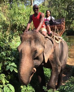 Elephant Ride at the Khao Yai National Park , Cathrine A - January 2016