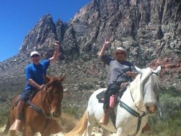 Hugh and Cynthia Tarbet Morning Maverick horseback ride with breakfast. , Hugh T - June 2014