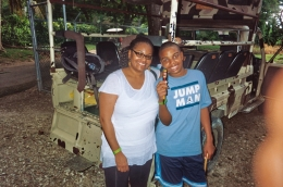 in front of Land Cruiser- my son & I had a blast, Stephanie M - August 2010