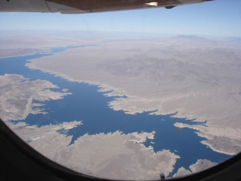 Lake Mead from the plane - Las Vegas