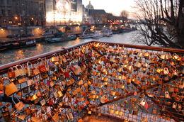 Locks on the bridge as we waited to start our tour. , AmandaKay - January 2014