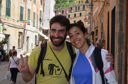 Our tour guides Stefano and Sandra , Kathi M - June 2013