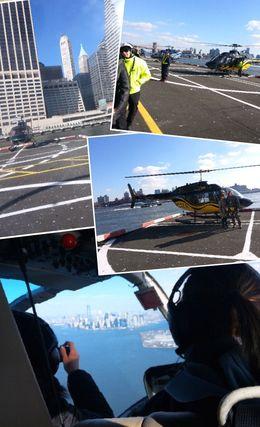 Hubschrauber-Landeplatz und Abflug , Sandra G - December 2013