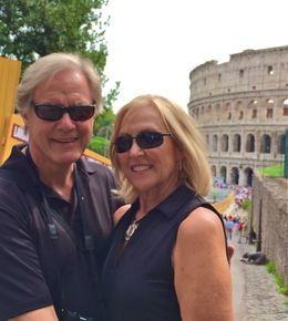 Dan and Mary enjoying Roman sites , Mary B - September 2015