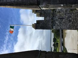 From the top of Bunratty Castle - be sure to climb to the top. Views are w , Munira W - August 2017