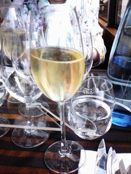 At the beginning a glas of Champagner , Ralf W - August 2015