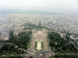 It was chilly and windy up there but the view was breathtaking! Paris is LOVE! , Kat - June 2012