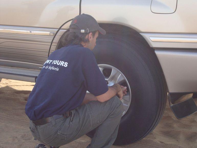 Deflating wheels - Dubai