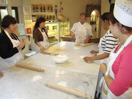 Giovanni finishing up the pasta dough , nixh - May 2011