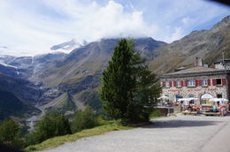 Hotel at one of the stops on the way to St Moritz , Jill G - October 2012