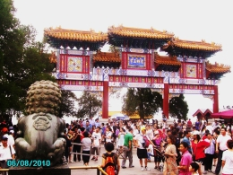At the entrance to Lama Temple. - August 2010