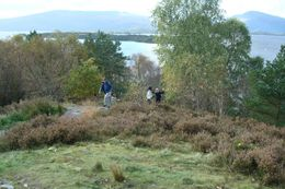 Loch Lomond: Hiking up the hill, Sheila R - October 2008