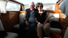 Mike and Judy discovering Venice the best way! , Judy & Mike - September 2011