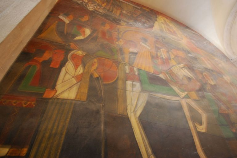 Montserrat's Basilica Hall Artwork - Barcelona