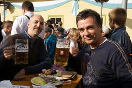 What else could I do but set aside all dietary and philosophical guidelines and have a meal of bratwurst, roast ox and beer? - July 2010