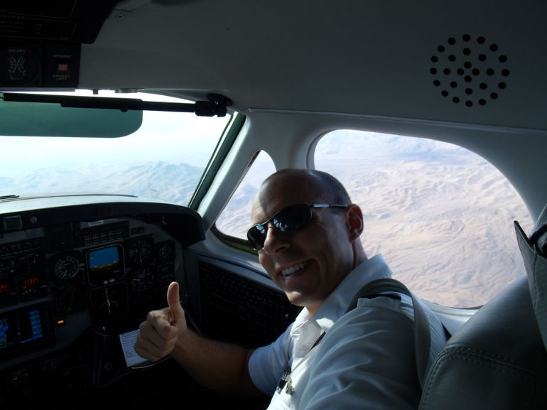 Our friendly pilot! - Las Vegas