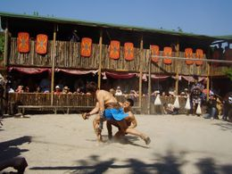 Two gladiator's showing us their fighting skills. - September 2008