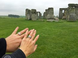 This was the first tour we did on our honeymoon trip to London. Stonehenge provided the perfect backdrop to show off our new rings! , Kristen G - August 2016