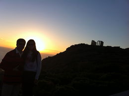 My husband and my daughter, and at the very back Temple of Poseidon. , Wagner A - January 2013