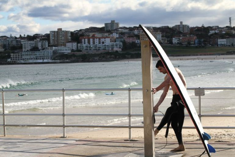 Surfer at Bondi Beach - Sydney