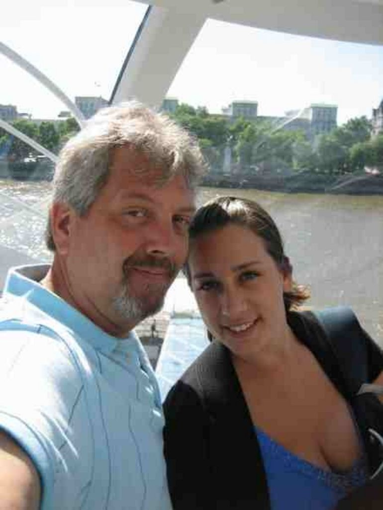 Tony and I Inside the London Eye - London