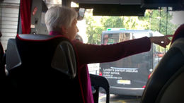 In the Bus with the tour guide. - January 2012