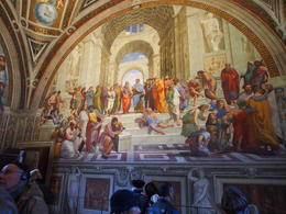 Raphael's fresco of The School of Athens in the Room of Segnatura. , Alan P - January 2017