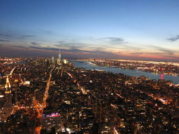 Amazing View of Manhattan Lighting Up, Patricia P - July 2015