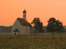 An early morning walk in Schwangau - St. Coloman's Church at sunrise , Kevin F - August 2013