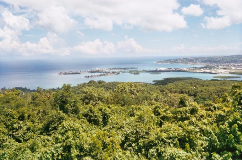 blue skies, green field - Montego Bay