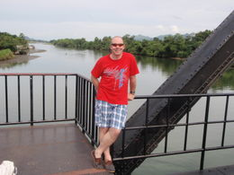 Michael on the Bridge with the River Kwai in the background. , marilyn f - July 2011
