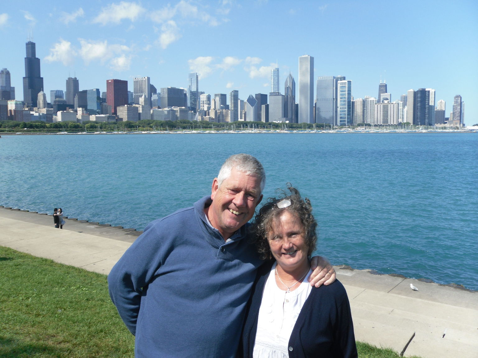 Chicago skyline from planetarium site