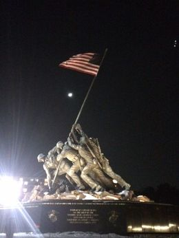 Marine corps war memorial - March 2015