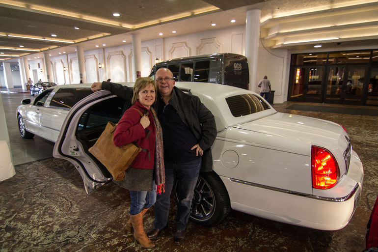 Fahrt mit der Limo - Las Vegas