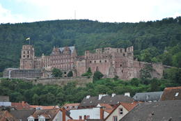 View of the Heidelberg Castle from the main bridge , Frederick G - September 2016