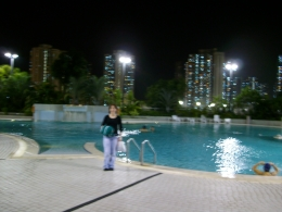 our nice hotel pool.great to swim at night, IAN M - October 2010