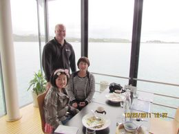 My daughter, Royala, is on the left. In the middle is Todd, our guide, I am Lily, who is on the right. We had lunch in a cafe named SOI. Todd told us he was an actor in and quot;Lord of Ring and..., Lily Zhang - October 2011