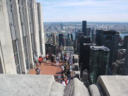 Sightseers on a lower viewing deck at Rockerfeller Centre. , Kevin H - October 2014