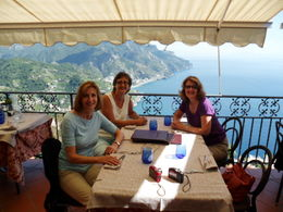 We had the most wonderful lunch overlooking the sea. , Santa F - October 2013