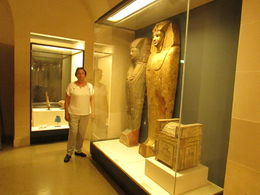 Near one of the thousands artifacts brought from Egypt , JOSE F - September 2014