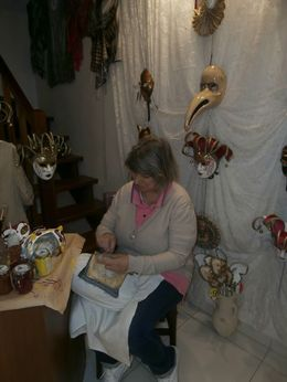 Very nice shop keeper making lace while I watched. , Terri R - September 2014