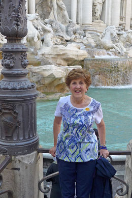Dolores at the Trevie Fountain , Dolores M - May 2013