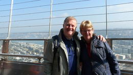 Archie and Phyllis at top of the Space Needle , Archie M - October 2016
