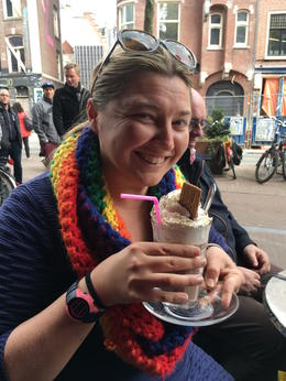 An excellent hot chocolate at one of the coffee shops. , Carol G - May 2017