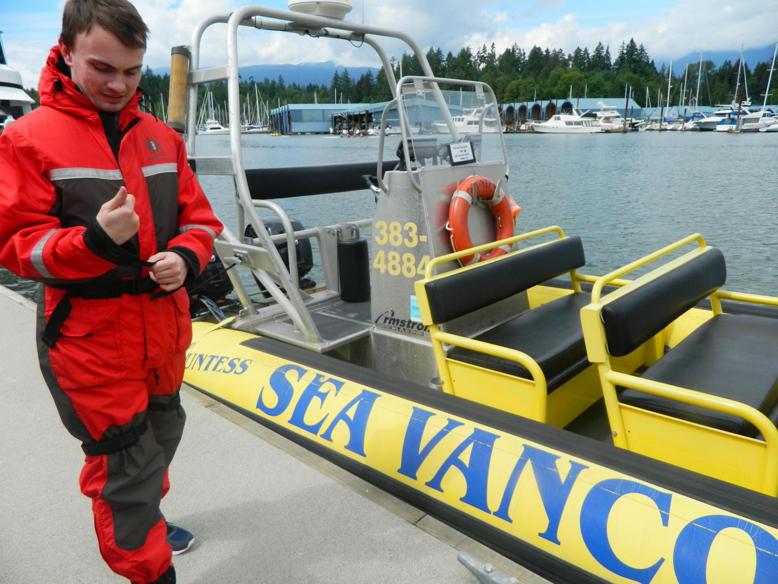 MAIS FOTOS, Cruzeiro turístico pelo centro de Vancouver em uma embarcação Zodiac